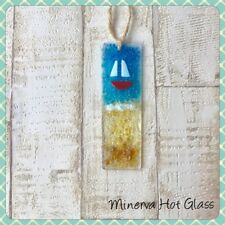 Fused Glass Boat Nautical Sun Catcher Gift Light Catcher Minerva Hot Glass
