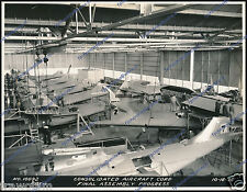 "CONSOLIDATED PBY-1 CATALINA, ASSEMBLY LINE 1936 - ORIGINAL PERIOD PHOTO 7.5""x10"""