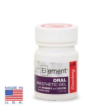 ELEMENT 20% Benzocaine Topical Anesthetic Gel STRAWBERRY FLAVOR 1oz Jar