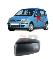 FOR FIAT PANDA 2003 - 2009 NEW WING MIRROR COVER CAP BLACK LEFT N/S