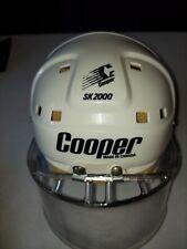 VINTAGE COOPER SK2000 ADULT HOCKEY HELMET WHITE with Itech visor