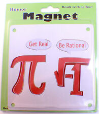 Get Real Be Rational Pi Math Symbols Characters Funny Refridgerator #Mag24Magnet