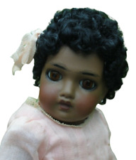 Antique All Bisque French Jumeau Doll Reproduction 7.75 Inch Made By Artist