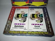 VTG VIDEO PROFESSOR Computer Instructor VHS Cassette Tapes Learn Quicken & Excel