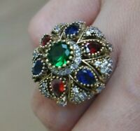 925 Sterling Silver Handmade Authetic Turkish Mix Ladies Ring Size 6-10