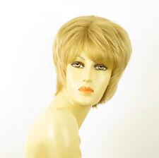perruque femme 100% cheveux naturel courte blonde ref KRYSTIE 22