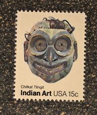 1980USA   #1835 15c Indian Art Single - American Folk Art Masks Tlingit  Mint NH