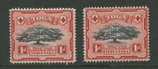 TONGA 1942 1d TREE CONSTANT VARIETY...DEFORMED VALUE TABLET...UM MINT
