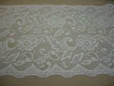 """IVORY LACE 15"""" wide x 36"""" length Polyester Curtains Valance Veils Clothing NEW"""