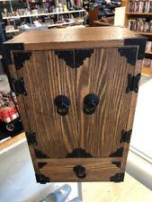 "Wood Jewlery Box Music Box Made In Japan Very Nice 14""x8.5"""