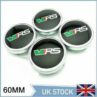 4x VRS Center Caps Wheel Centre Hub Alloy Cap Set VRS 56mm Black/Green
