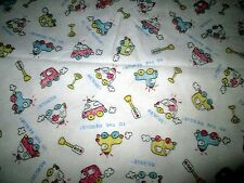 "1 5/6 yards of ""TO THE RESCUE!"" Cotton FLANNEL FABRIC Police EMS Ambulance"