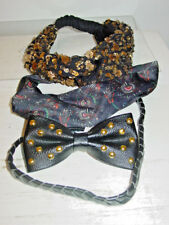 Urban Outfitters lot 3 headbands leather stud bow pony tail holder-NWT-$74.00