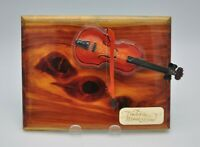 Vintage Touch of the Masters Violin Hand Wooden Wall Decor Art Plaque Handmade