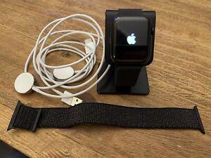 Apple Watch Series 5 Black Stainless Steel 44mm Case Milanese Loop LTE AppleCare