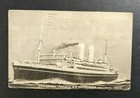 1925 Canadian Pacific SS Minnedosa Picture Postcard Montreal Canada to NY USA
