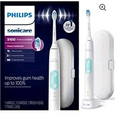 🆕 Philips Sonicare 🔸Protective Clean 5100 Rechargeable 😬  Toothbrush🔸 White