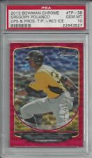 2013 Bowman Chrome Red Ice Gregory Polanco #TP-38 25/25 ROOKIE PSA 10 GEM MINT