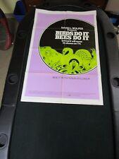 VTG 1 sheet 27x41 Movie Poster Birds Do it Bees Do It 1974 David L. Wolper