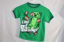 Minecraft Creeper Shirt Green Small S Like A Boss TNT Mojang