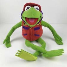 "Macys Kermit the Frog Plush Stuffed Animal 24"" wearing Red Vest & Hat Macy's"