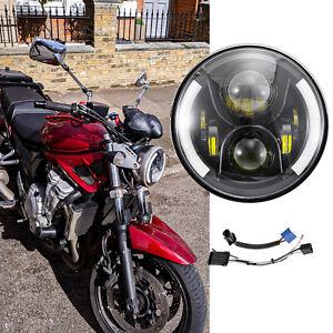 "For Suzuki Bandit LED 7"" Motorcycle Headlight Turn Signals Hi/Lo W/ Halo Ring"