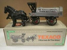 DIECAST ERTL 939VP TEXACO HORSE & TANKER COIN BANK- BOXED- NEW- H31
