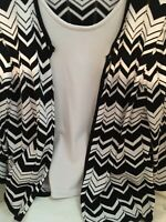 ALFRED DUNNER WOMEN'S Faux Twin Set Top Blouse Size 22w