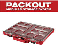 Milwaukee Low-Profile Small Parts Organizer 10-Compartment Removable Storage Bin