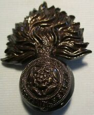OFFICERS CAP BADGE ROYAL FUSILIERS BLACK 1950/60s PATTERN
