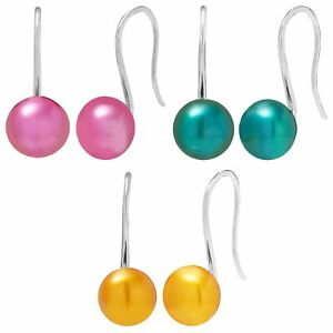 Honora 8-9 mm Freshwater Culture Multicolored Pearl Earrings Set Sterling Silver
