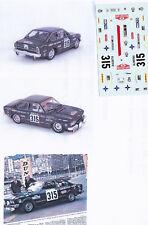 Decals 1/43e Seat 124 Sport 1800 Fabregas Monte Carlo 1973