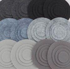 Stone Cold - 48 Die Cut Wool Blend Felt Circles