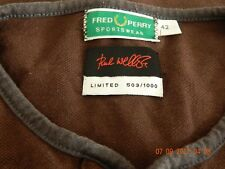 PAUL WELLER DESIGNED FRED PERRY POLO LIMITED EDITION 503/1000,GENUINE ITEM,FAB.