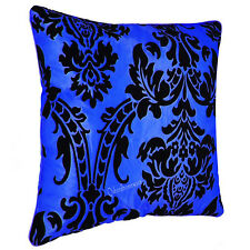 "Cushion Cover / Filled : Luxury Cushion Covers Flock Damask All Colours 18""X 18"""
