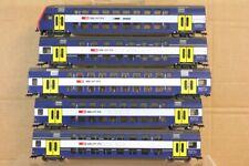 FLEISCHMANN RAKE of 5 SBB CFF SNCF S-BAHN DOPPELSTOCK COACH & CONTROL CAR nr