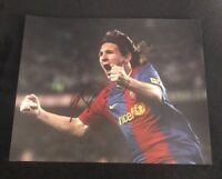 LIONEL MESSI SIGNED 8X10 PHOTO ARGENTINA REAL MADRID SOCCER W/COA+PROOF RARE WOW