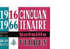 VERDUN DE GAULLE 1966 RARE LIVRET  NUMEROTE CINQUANTENAIRE DE LA BATAILLE
