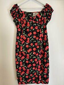 Collectif Cherry Print Dress Size 16 (ref 203)