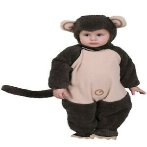 Dress up America 565-0-6 Cute Plush Lil' Monkey Costume, (Weight:3.5-7 kg, He...