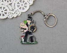 Irish Ireland Keychain Leprechaun Lucky Shamrock Horseshoe Pig Pewter Painted