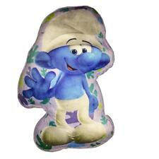 Smurfs 'The Lost Village' 33cm Die Cut Plush Cushion - Happy / Jokey Smurf