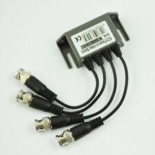 CCTV 4 Channel Passive UTP Transmitter Video Balun BNC Male to UTP RJ45 CAT5 F6