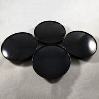 4pcs 68mm Black Car Wheel Center Hub Caps Covers Set New No Emblem Universal