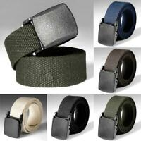 Nylon Canvas Breathable Military Tactical Men Waist Belt Plastic Buckle 2019