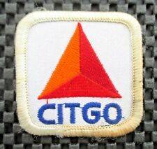 "CITGO GAS OIL EMBROIDERED SEW ON PATCH PETROLEUM UNIFORM ADVERTISING 2"" x 2"""
