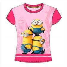 Vêtements t-shirt rose pour fille de 2 à 16 ans en 100% coton, 8 - 9 ans