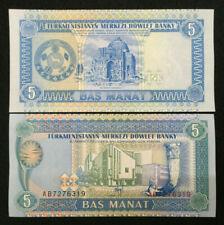 Turkmenistan 5 MANAT Banknote World Paper Money UNC Currency Bill Note