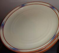 NORITAKE RAINDANCE STONEWARE # 8675 SET OF 4 DINNER PLATE