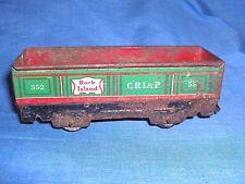 Ms502 - Vintage Tin Litho Marx Rock Island Sand, Coal , Gondola Car - Cri&P 552